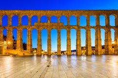 Akvedukt Segovia, Spanien Arkivfoto