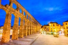 Akvedukt Segovia, Spanien Arkivbilder