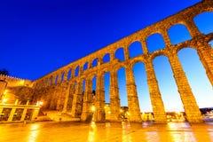 Akvedukt Segovia, Spanien Fotografering för Bildbyråer