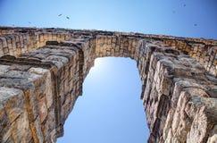 Akvedukt Segovia, Spanien Arkivbild