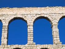 akveduktdetalj segovia arkivbilder