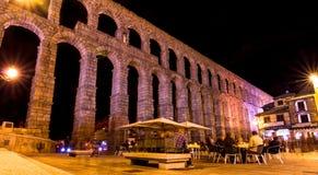 Akvedukten av Segovia Royaltyfria Bilder