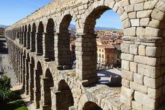 Akvedukten av Segovia Arkivbild
