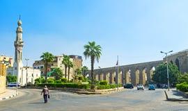 Akvedukten i gammal Kairo Royaltyfri Bild