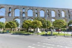 Akvedukten i Kavala Grekland Arkivbilder