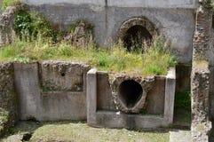 Akvedukter och kloaksystem i forntida Rome Arkivbild