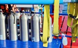 Akwalungu pikowania powietrza zbiorniki Obraz Royalty Free