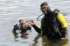 Akwalungu pikowanie Zdjęcie Royalty Free