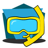 Akwalungu snorkel i maska Obrazy Royalty Free
