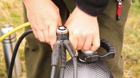 Akwalungu wyposażenie w trakcie być ustawianiem dla akwalungu nura związek reduktor z balonem zbiory