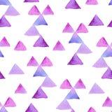Akwarela abstrakcjonistyczny bezszwowy wzór Fotografia Stock