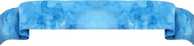 Akwarela błękitny faborek Zdjęcia Royalty Free