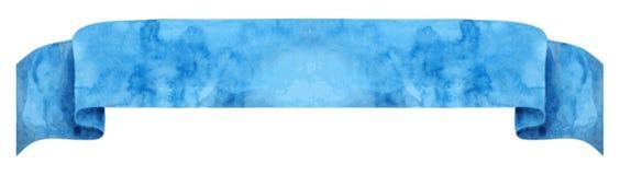 Akwarela błękitny faborek Zdjęcie Stock