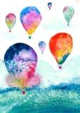 akwarela balon Obrazy Royalty Free