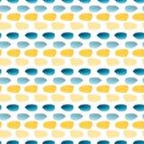 Akwarela bezszwowy wzór z prostą teksturą Nowożytny tekstylny projekt w żółtych i błękita kolorach royalty ilustracja