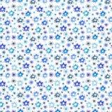 Akwarela Bożenarodzeniowy Bezszwowy wzór set dla scrapbook i projekta Obraz Stock