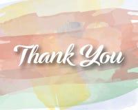 Akwarela Dziękuje Ciebie ilustracji