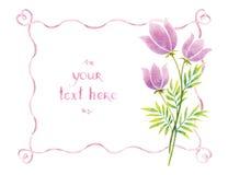 Akwarela faborki i kwiaty Zdjęcie Stock