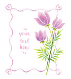 Akwarela faborki i kwiaty Obraz Royalty Free