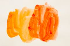 akwarela Farb plamy na białym prześcieradle papier Abstrakci akwarela Obraz Stock