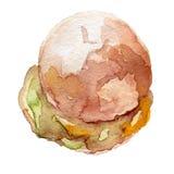 Akwarela hamburgeru ręka rysująca, eps10 Zdjęcia Royalty Free