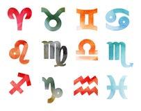 Akwarela horoskop Fotografia Royalty Free