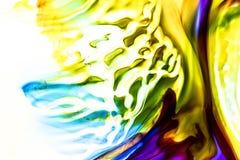 Akwarela i akrylowy abstrakt kolorowe t?o Mieszanka, plu?ni?cia i rysunki kolory: b??kit, czerwie?, ziele?, kolor ? obrazy stock