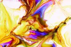 Akwarela i akrylowy abstrakt kolorowe t?o Mieszanka, plu?ni?cia i rysunki kolory: czerwie?, kolor ? obraz royalty free