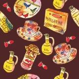 Akwarela; ilustracja; oliwka; gotować; jedzenie; olej; zieleń; butelka; jeść; organicznie; zdrowy; świeżość; kolor; śródziemnomor ilustracja wektor
