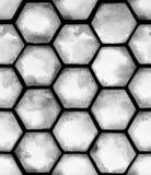 Akwarela jednakowy wzór z popielatymi sześcioboków honeycombs ilustracja wektor