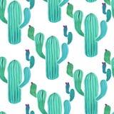 Akwarela kaktusowy bezszwowy wzór ilustracja wektor