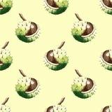 Akwarela kasztanu orzech włoski ilustracji