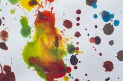 Akwarela kleksy na papierowym ilustracyjnym fotografii jpg Zdjęcie Royalty Free