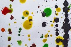 Akwarela kleksy na papierowym ilustracyjnym fotografii jpg Zdjęcia Royalty Free