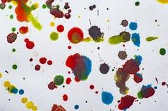 Akwarela kleksy na papierowym ilustracyjnym fotografii jpg Fotografia Royalty Free