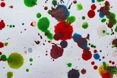 Akwarela kleksy na papierowym ilustracyjnym fotografii jpg Zdjęcie Stock