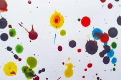 Akwarela kleksy na papierowym ilustracyjnym fotografii jpg Obrazy Stock