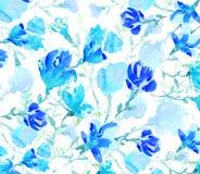 Akwarela kolorowi kwiaty Zdjęcia Royalty Free
