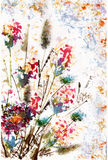 Akwarela kwiatu bukiet Obrazy Stock