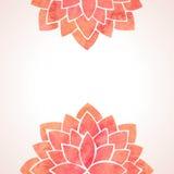 Akwarela kwiatu czerwoni wzory Wektorowy tło Fotografia Royalty Free