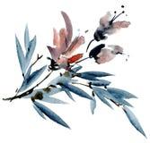 Akwarela kwiatu karta Obraz Royalty Free