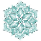 Akwarela kwiatu Piękny mandala Zdjęcie Stock