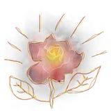Akwarela kwiatu projekt zdjęcia stock