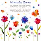 Akwarela kwiatu tło ilustracja wektor
