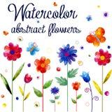 Akwarela kwiatu tło royalty ilustracja