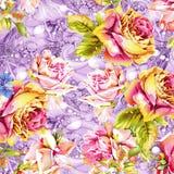 Akwarela kwiatu wzór royalty ilustracja