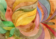 Akwarela kwiecisty abstrakcjonistyczny kolor Obrazy Royalty Free
