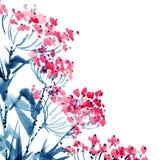 Akwarela kwitnie ilustrację ilustracja wektor