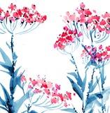 Akwarela kwitnie ilustrację royalty ilustracja