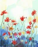 Akwarela kwitnie obraz Wiosny kwiecista natura ilustracji